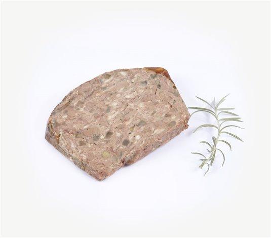 Terrine de confit de foie de volaille aux pommes et calvados